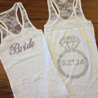 Personalized Bride Tank Top with Wedding Date