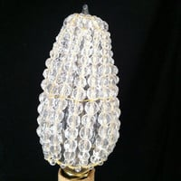Glass Beaded Bulb Cover w/ Gold Wire by josiesfancypants on Etsy