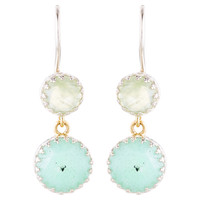 Sterling Silver w/ Chrysoprase Earrings