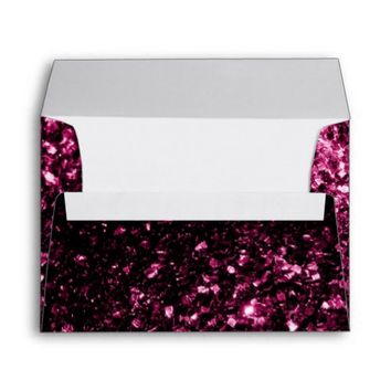 Beautiful Pink glitter sparkles print envelope by PLdesign