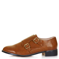 FLEETWOOD Buckle Monk Shoes - Tan