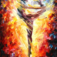 BALLET 3 — Palette knife Oil Painting on Canvas by Leonid Afremov - Size 20x30. 10% discount coupon - deviantart10off
