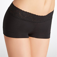 Maidenform The Dream Cotton Collection Boyshort with Lace Panty 40859 at BareNecessities.com