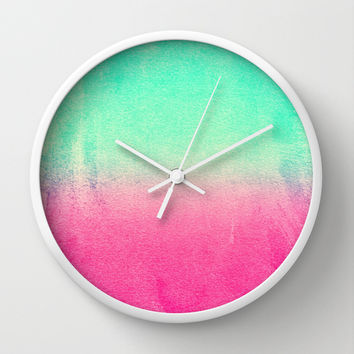 SUNNY MELON Wall Clock by Monika Strigel | Society6