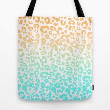 Neon Leopard Tote Bag by Monika Strigel | Society6