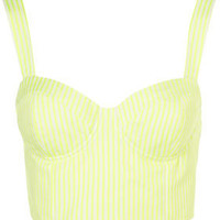 Fluro Stripe Bralet by Boutique - Clothing - Topshop