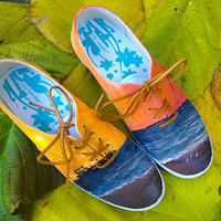 $75.00 Custom painted shoes by CMBreverie on Etsy