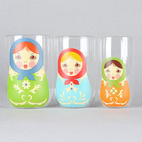 FRED The Babushkups Nesting GlassesSet of 3 : Karmaloop.com - Global Concrete Culture