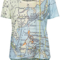 Petite Tee and Cake Map Tee - Topshop