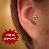 Ronin  2in1 Tragus Cuff style &#x27;B&#x27; silver spiral ear by ZyDesigns