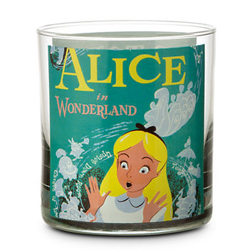 Disney Parks Attraction Poster Short Glass Tumbler  Alice