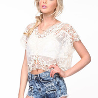 WHIMSY CROCHET CROP TOP