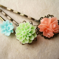 Cucumber Melon Summer Hair Pins by PiggleAndPop