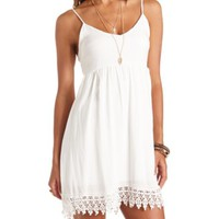 CROCHET-TRIMMED BABYDOLL DRESS