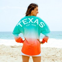Texas EST. 1845 State Pride Ombre Spirit Football Jersey®