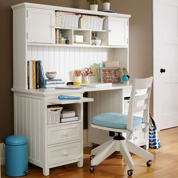 Beadboard Basic Desk  Hutch