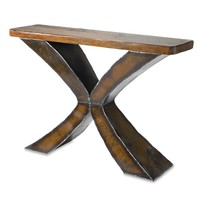 Rust X Console by Ben Gatski: Metal Console Table | Artful Home