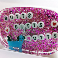 Quirky Weird Bathroom Art Butts Butts Butts by UglyBaby on Etsy