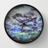 Colors Rolling in Wall Clock by Ben Geiger