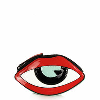Lip Eye Coin Purse - Red