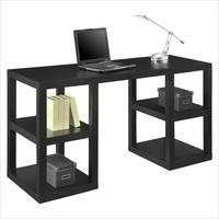 """SAVE Altra Furniture 60"""" Deluxe Parsons Desk with Shelves for Home Office"""