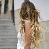 Ombre Tape Hair Extensions, Balayage Tape Hair Extensions, Dark Blonde Medium Blond Hair Extensions, 40 Pieces, 20""
