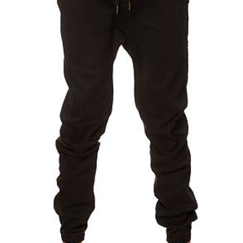 The Twill Cuff Jogger Pants in Black