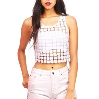Pressed Flower Top - Cute Crop Tops at Pinkice.com