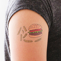 Tattly™ Designy Temporary Tattoos. Made in the USA! — Burger