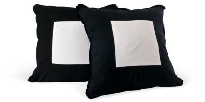 One Kings Lane - Kriste Michelini Interiors - Black  White Pillows, Pair