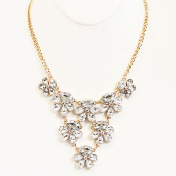 Crystal In Bloom Necklace Set