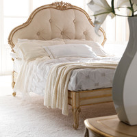 Bed with upholstered headboard 2456 by Grifoni Silvano