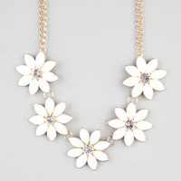 Full Tilt Flower Necklace Gold One Size For Women 24288162101