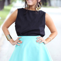Mint Short Wrap Skirt