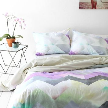 Magical Thinking Cosmic Chevron Duvet Cover  Urban Outfitters