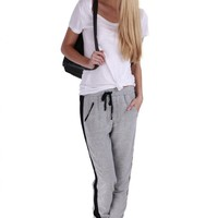 Gray Relaxed Fitted Active Pants