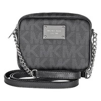 Michael Kors Jet Set Signature Black PVC Crossbody