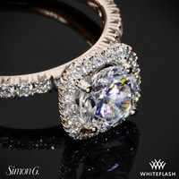 18k Rose Gold Simon G MR2132 Passion Diamond Engagement Ring