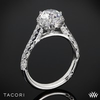 18k White Gold Tacori Petite Crescent Celestial Diamond Engagement Ring