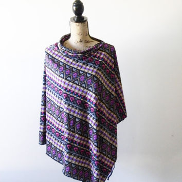 Colorful Aztec Poncho/ Tribal Nursing Poncho/ Nursing Shawl/ Breastfeeding Cover/ Summer Poncho/ Summer Shawl/ New Mom Gift