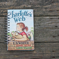 Charlotte's Web book journal - recycled children's book journal notebook