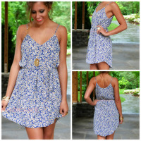 Gone For Daisies Navy Floral Print Shift Dress