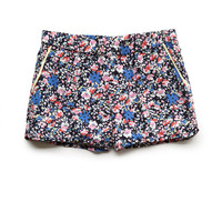 Bright Floral Dolphin Shorts (Kids)