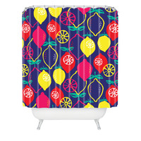 Zoe Wodarz Citrus Bliss Shower Curtain