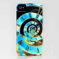Infinite Time Blue iPhone Case by Steve Purnell | Society6