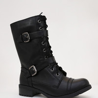 At Bay Moto Combat Boots