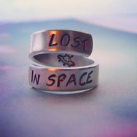 Lost in space    twist aluminum ring