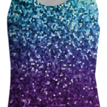 TANK TOP WOMEN Mosaic Sparkley Texture G21 created by Medusa GraphicArt   Print All Over Me