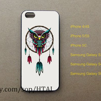 Dreamcatcher phone case,owl iPhone 5 Case iphone 4/4S case iphone 5S/5C case samsung galaxy S3 S4 S5 case