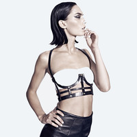 chromat — Leather Underwire Half Cage